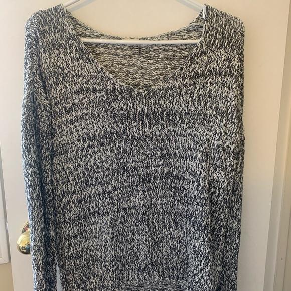 Garage grey off one shoulder sweater